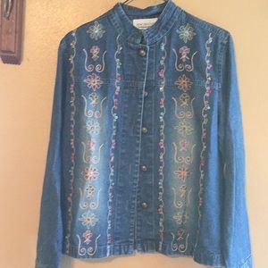 New Direction Denim sm beaded Indian style jacket